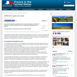 Différents types de visas - France in the United States/ Embassy of France in Washington