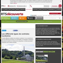 Les différents types de centrales nucléaires - rts.ch - découverte - science et environnement - maths, physique, chimie - énergie nucléaire