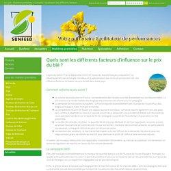 Quels sont les différents facteurs d'influence sur le prix du blé ?