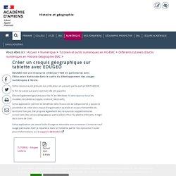 Différents tutoriels d'outils numériques en Histoire-Géographie-EMC > Créer un croquis géographique sur tablette avec EDUGEO