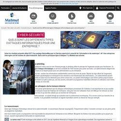 Les différents types d'attaques informatiques en entreprise