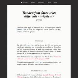 Test de @font-face sur les différents navigateurs