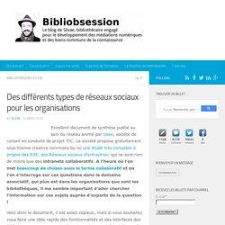 Des différents types de réseaux sociaux pour les organisations