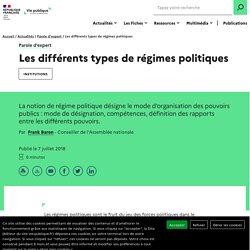 Les différents types de régimes politiques