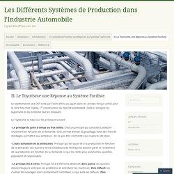 Les Différents Systèmes de Production dans l'Industrie Automobile