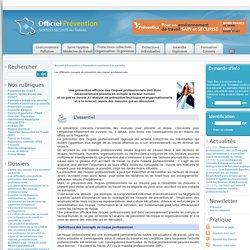 Les différents concepts de prévention des risques professionnels.