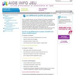 Aide Info Jeu - Les différents profils de joueurs