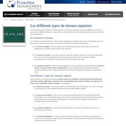 Quels sont les différents types de réseaux organisés ?