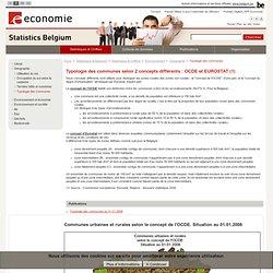 Typologie des communes selon 2 concepts différents : OCDE et EUROSTAT (1)