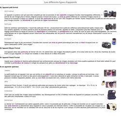 différents types d'appareils