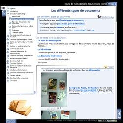 cours de méthodologie documentaire licence niveau 1 - Différents types de documents