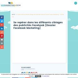 ▷ Se repérer dans les différents ciblages des publicités Facebook [Dossier Facebook Marketing]