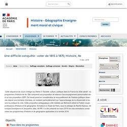 Voter de 1815 à 1870 - Ac-Paris