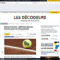 Roland-Garros : difficiles phases finales pour les Français(es)