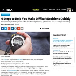 4 Steps to Help You Make Difficult Decisions Quickly