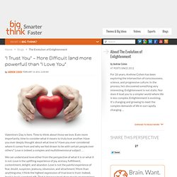 """I Trust You"" – More Difficult (and more powerful) than ""I Love You"""