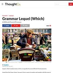 Lequel - French Pronoun