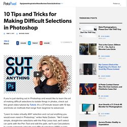 10 Tips and Tricks for Making Difficult Selections in Photoshop