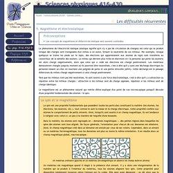 OPUS : Sciences physiques 416-430 : Quelques conseils... : II. Les difficultés récurrentes