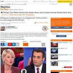 """Philippot en difficulté dans """"Le Supplément"""" de Canal Plus : les mensonges du FN dévoilés"""