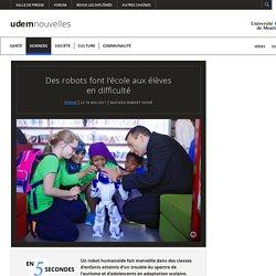 Des robots font l'école aux élèves en difficulté