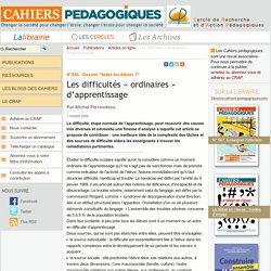 Les difficultés « ordinaires » d'apprentissage