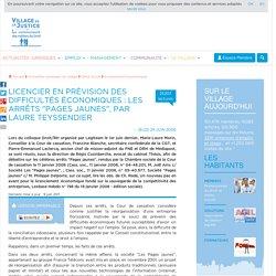 """Licencier en prévision des difficultés économiques : les arrêts """"Pages jaunes"""", par Laure Teyssendier"""