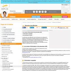Prévention des difficultés - APCE, agence pour la création d'entreprises