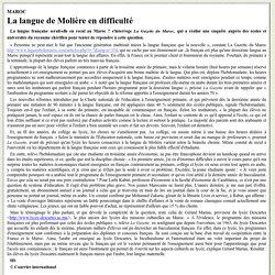 Les difficultés de la langue française au Maroc