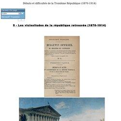 Débuts et difficultés de la Troisième République:1870-1914