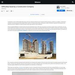 Difficulties faced by a Construction Company on Behance
