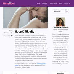 Sleeping difficulty counselling