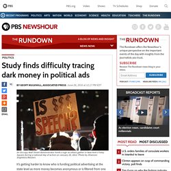 Study finds difficulty tracing dark money in political ads