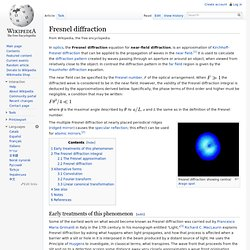 Fresnel diffraction