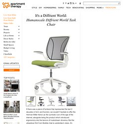 It's a Diffrient World: Humanscale Diffrient World Task Chair | Apartment Therapy Unplggd