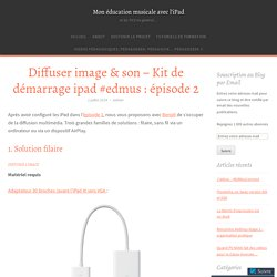 Diffuser image & son – Kit de démarrage ipad #edmus : épisode 2