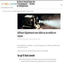 Diffuser légalement une vidéo ou un média en classe – Culture Numérique de l'enseignant – Droits et obligations