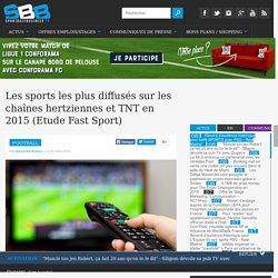Les sports les plus diffusés sur les chaînes hertziennes et TNT en 2015 (Etude Fast Sport)