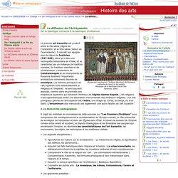 La diffusion de l'Art byzantin- Histoire des arts