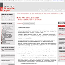 Parcours Diffusion de la culture - Catalogue des formations
