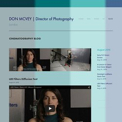 LEE Filters Diffusion Test — DON MCVEY