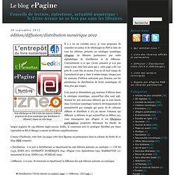 édition/diffusion/distribution numérique 2012