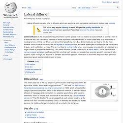 Lateral diffusion