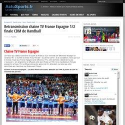 Diffusion chaine TV France Espagne 1/2 Mondial Hand Qatar