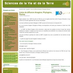 Listes de diffusion Anagène, Phylogène, Rastop