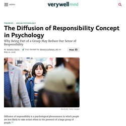 How Diffusion of Responsibility Affects Group Behavior