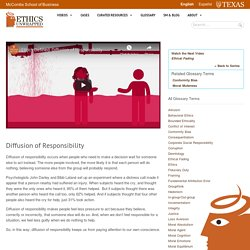 Diffusion of Responsibility - Ethics Unwrapped
