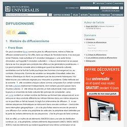 DIFFUSIONNISME, Histoire du diffusionnisme