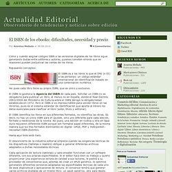 El ISBN de los ebooks: dificultades, necesidad y precio