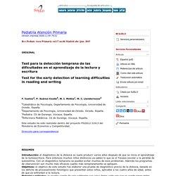 Test para la detección temprana de las dificultades en el aprendizaje de la lectura y escritura